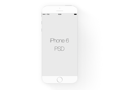 White iPhone 6 Mockup PSD File