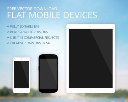 Free Vector Mobile Devices iPad iPhone Nexus