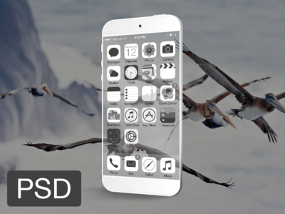 Transparent iPhone 6 Mockup PSD Download