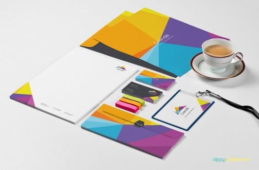 8 Free Photorealistic Stationery Branding PSD Mockups