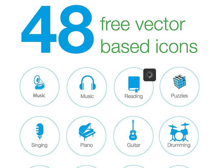 48 free vector based icons