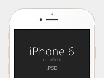 A simple iPhone 6 Mockup