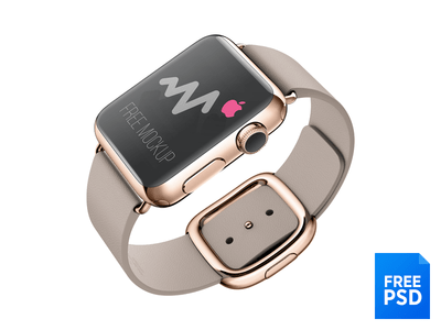 Apple Watch – Free Mockup PSD Download