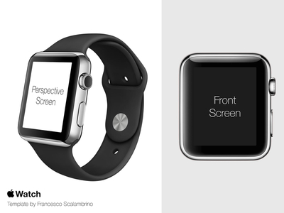 Apple Watch (iWatch) Free Mockup Template PSD