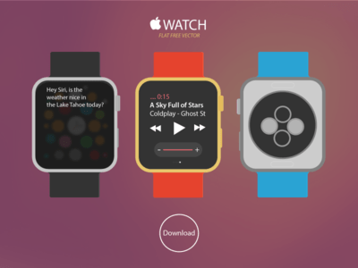 Apple iWATCH Free Vector Download