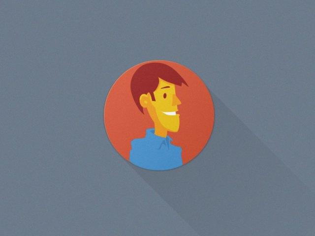 Cartoon Male avatar - Flat Avatars Set Vector AI & PSD