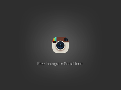 Free Instagram Social Icon PSD