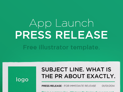 Free Press Release Illustrator Template