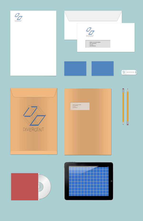 Free Stationary Branding MockUp template