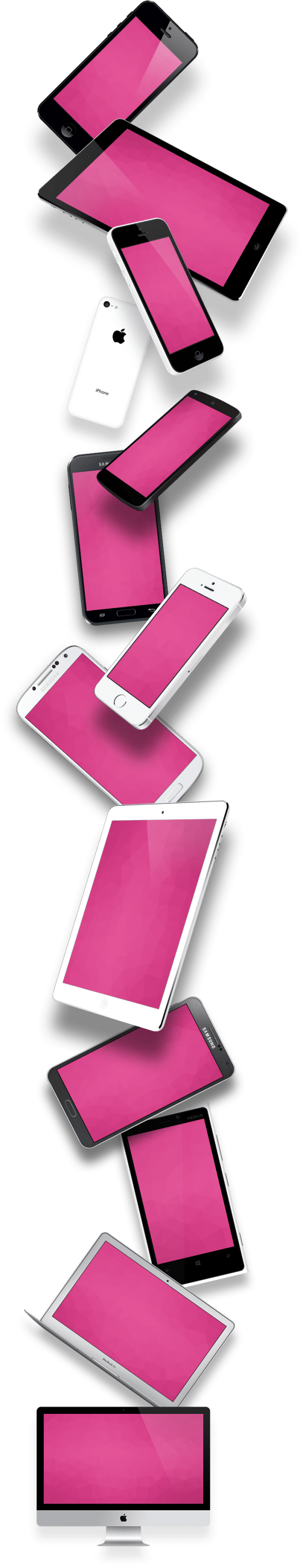 Mobile Devices (Mockups) PSD VECTOR
