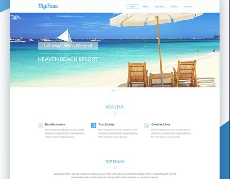 MyTour PSD Template For Travel or Tour Website