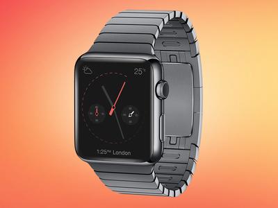 Smart Watch PSD Mockup iWatch Time Piece inc