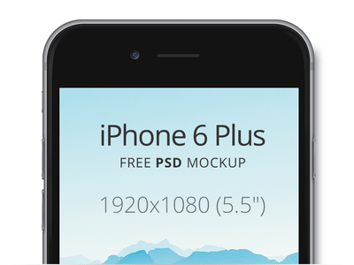 iPhone 6 Plus Free PSD Mockup