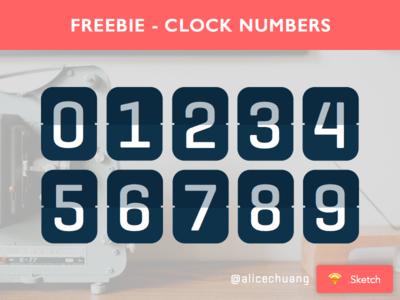 Clock Numbers Sketch
