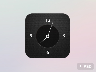 Free Clock Icon Psd