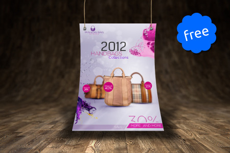Free Flyer Mockup PSD File Download