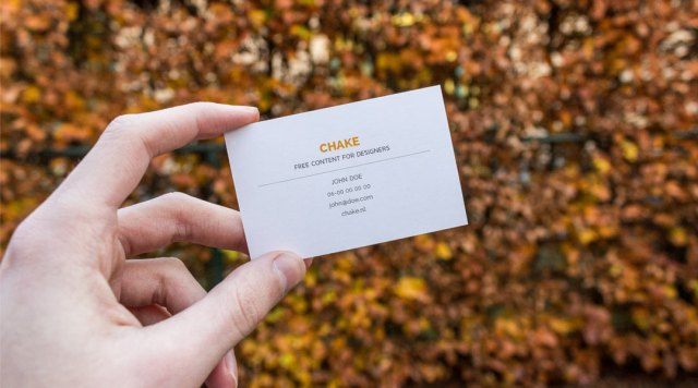 5 Free Business Card Mockups PSS Templates