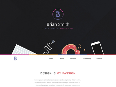 One Page Website PSD Template