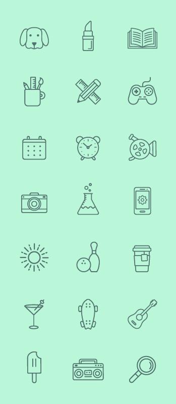 Vector free Line Icon Set