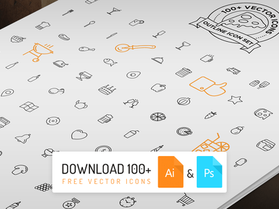 100+ Free Vector Line Icons Outline Icon Set PSD & AI