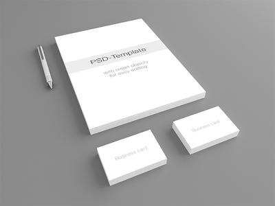 Business Card Letterhead Mockup PSD-Template