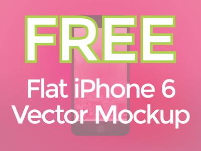 Flat Vector iPhone 6 Mockup