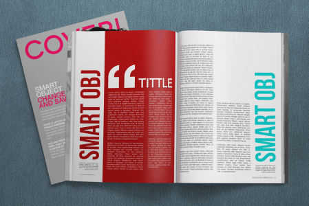 Free 4K Magazine Mockup PSD Template Download