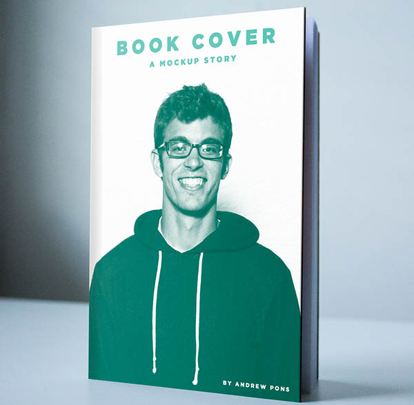 Free Book Cover Mockup PSD Template