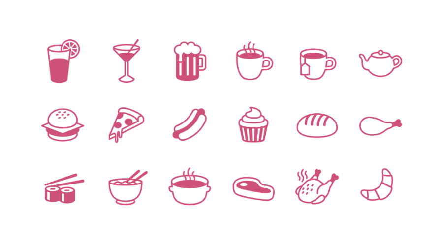Free Food Icon Set (flat & tasty)