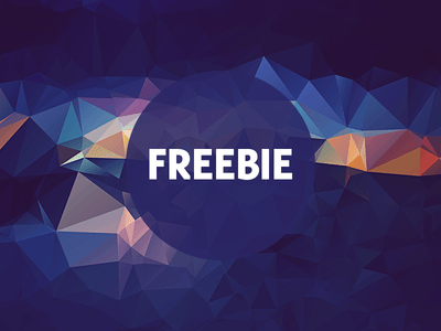 Free Polygonal Low Poly Background Texture Vol.18
