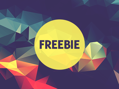 Free Polygonal Low Poly Background Texture Vol.5