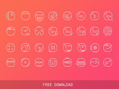 Free Vector Iine Icons