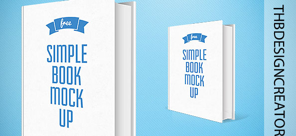 Simple Book Mockup PSD Template
