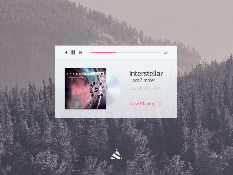 Simple Music Playe UI PSD