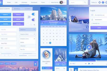 Snowflake UI Kit PSD & Sketch