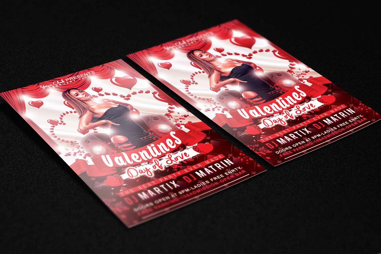 2015 ValentineDay Flyer Free PSD Template