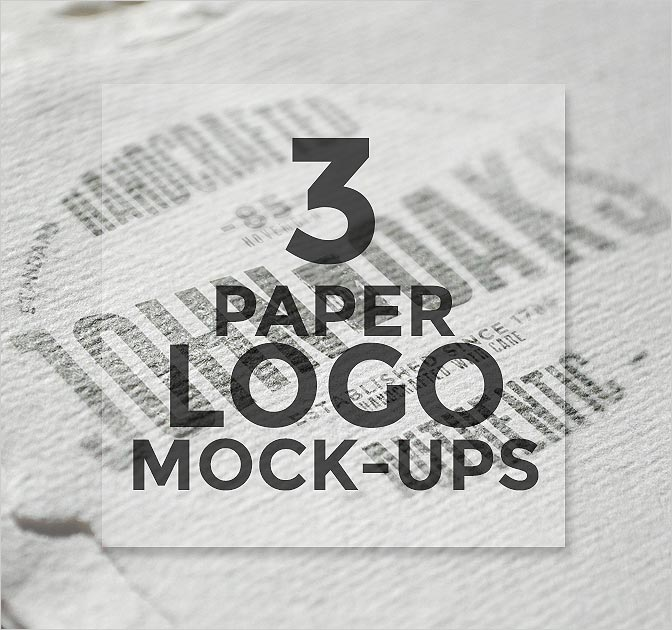 3 PSD Paper Logo Mock-Ups Free Download