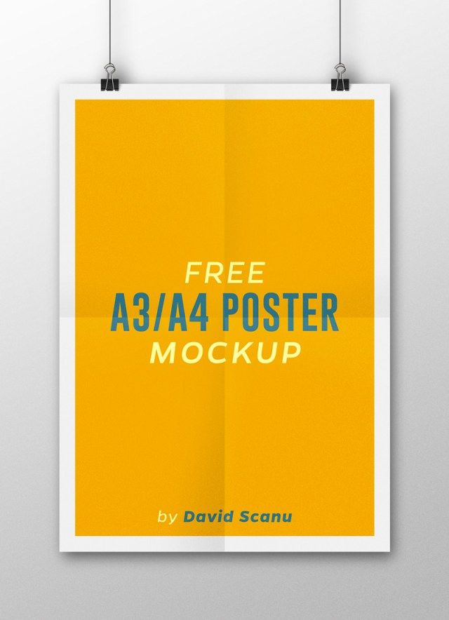 A3  A4 Flyer Poster Mock Up PSD Template 03