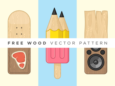 Free Customizable Texture Wood Vector Pattern