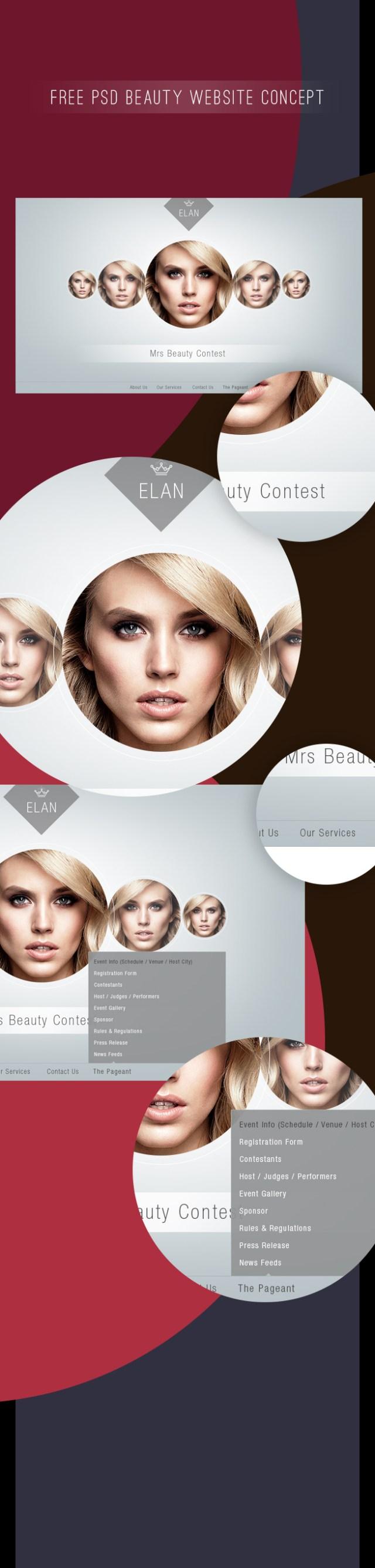 Free PSD Beauty Website Design Concept