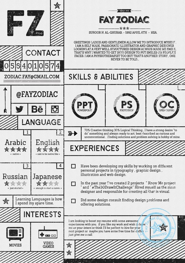 Free Resume Template PSD Download