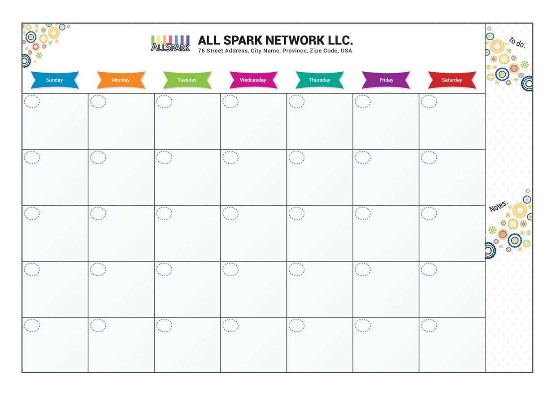 Schedule-taking Calendar Template Vector AI