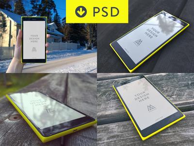 Windows Phone PSD Lumia 1520 Mock-ups