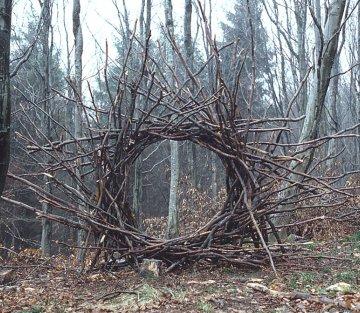 Turning Rain, Ice and Trees into Ephemeral Works