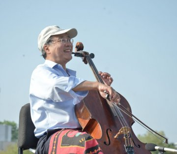 Cellist Plays Bach in the Shadow of the US-Mexico Border