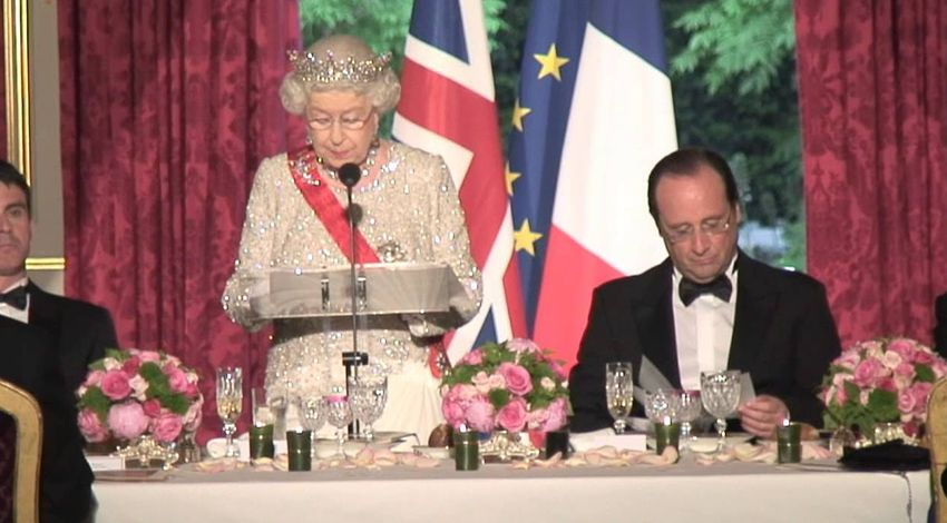 The Queen is fluent in both English and French.