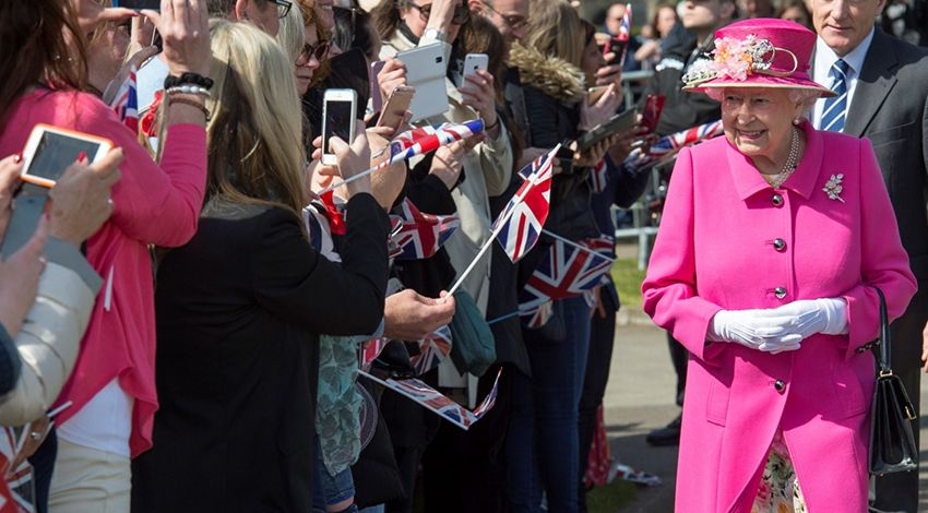 The queen is tech savvy.