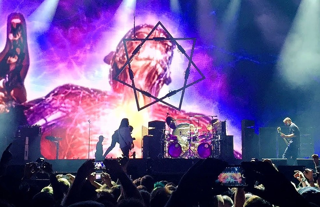 Tool performing at the Aftershock festival