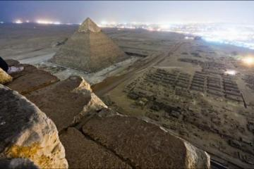Image taken from on top of the Great Pyramid