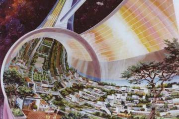 1970s Space Colony Conceptual Art